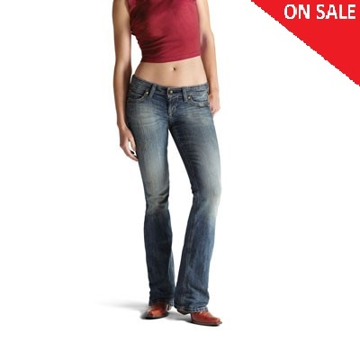 10010345 Women's Ariat Ruby Studded Cross Stretch Bootcut Jeans